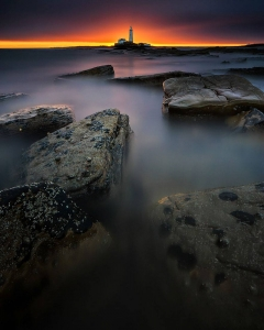 St Mary's Lighthouse, Bait Island, UK  Image credits: Steven Walden
