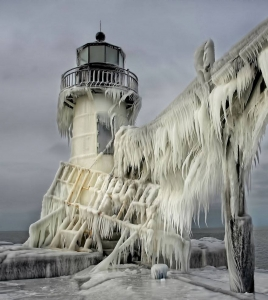 Frozen St. Joseph North Pier Lighthouse, Michigan, USA Image credit: Thomas Zakowski