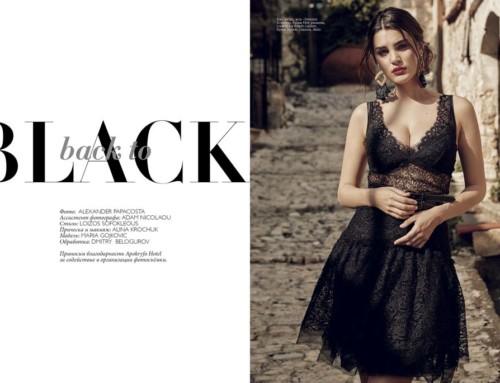 """Back to Black"" fashion editorial"